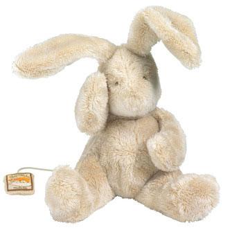 Sød bamse til baby med musik, leveres af Legetøj Online og produceres af Moulin Roty