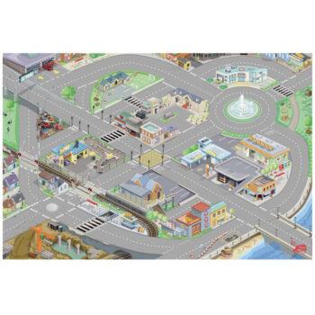 Biltæppe fra Le Toy Van som legetæppe til biler som en hel by