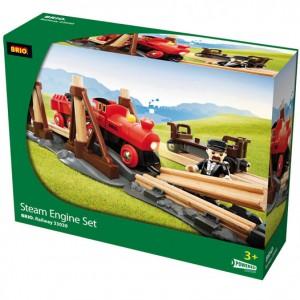 Her ser du BRIOs togbane pakket ind