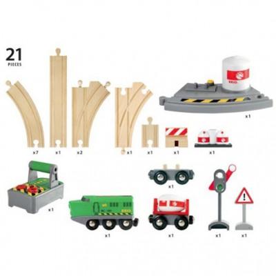 Får hele 21 dele med dette BRIO togbanesæt