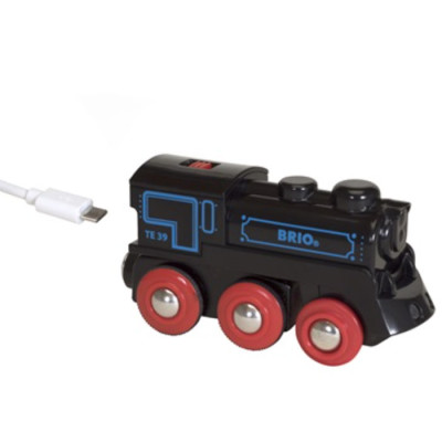 BRIO genopladeligt lokomotiv, der lades op via mini USB