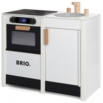 Komplet BRIO køkken med komfur og vask