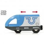 Det tilhørende BRIO lokomotiv kan naturligvis køre af sig selv