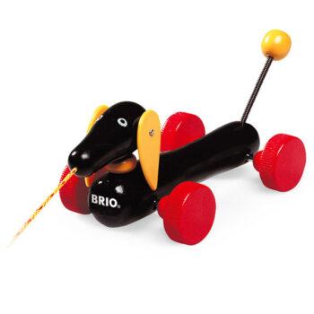 en hund som kan traekkes fra BRIO