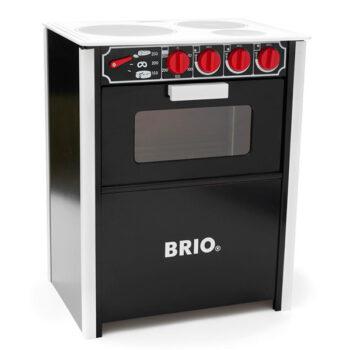 Klassisk sort BRIO komfur til dine børn