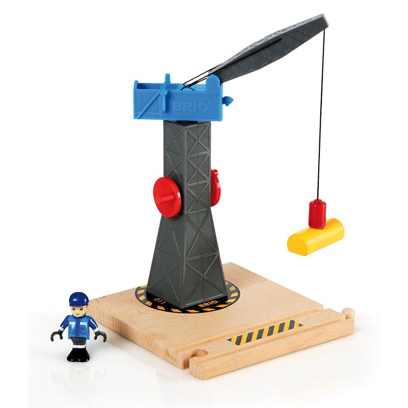 BRIO kran i stor model fra Legetøj Online sælges her
