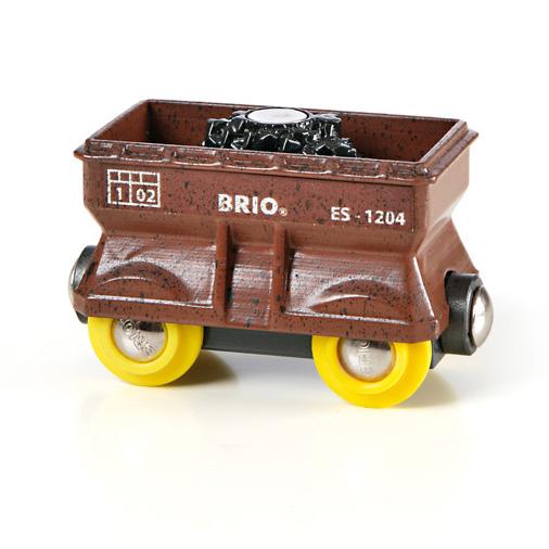 en fragtvogn til kul før BRIO togvogne