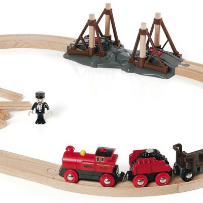 Damplokomotiv togbanen fra BRIO de selv kalder Steam Engine Set