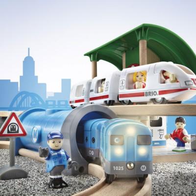 Et flot detalje billede af den store metro togbane
