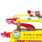 Dinos Red garagen har mange flotte detaljer