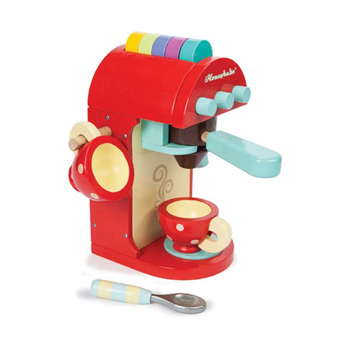 Espressomaskine til legekøkkenet i træ