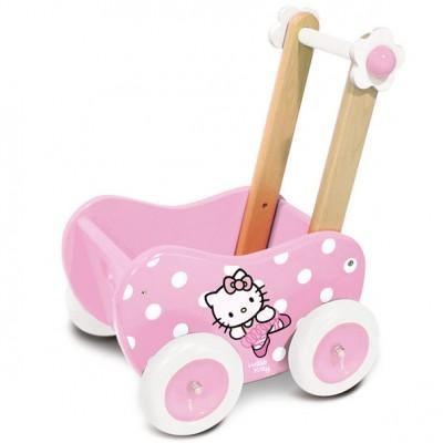 Hello Kitty gåvogn som dukkevogn fra franske Vilac leveres af Legetøj Online