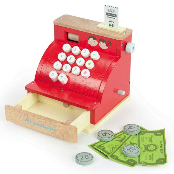 Honeybake kasseapparat legetøj i træ fra Le Toy Van leveret af Legetøj Online