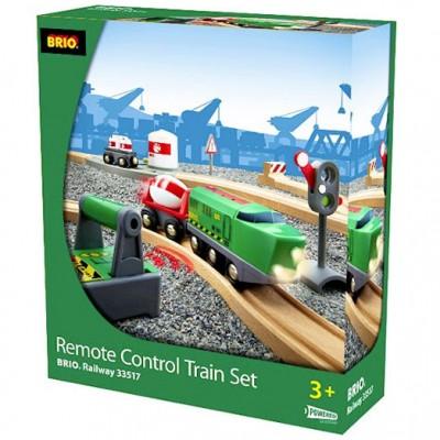 Kassen med det fjernstyrede tog