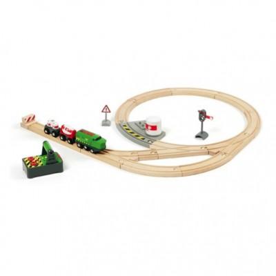 Komplet togbanesæt med fjernstyret lokomotiv