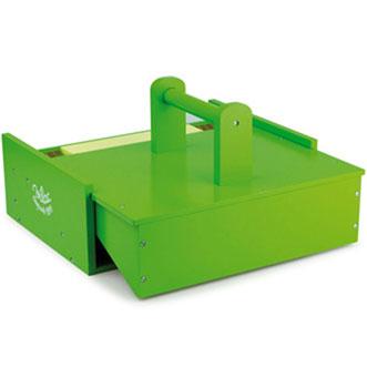 Bondegården kan pakkes sammen til en smart lille kuffert, helt i træ