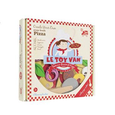 Indpakket pizza fra Le Toy Van leveret af Legetøj Online