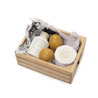 Legemad fra Le Toy Van som æg og mælkprodukter