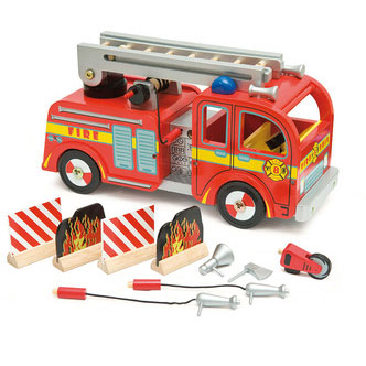 Legetøjs brandbil fra Le Toy Van af meget høj kvalitet
