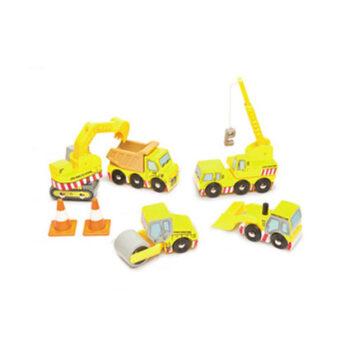 Vejarbejder bulldozer legetøjsbiler fra Le Toy Van som er meget flotte