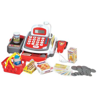 Legetøj kasseapparat i rødt