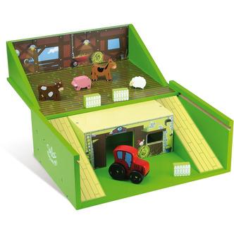 Legetøjs bondegård i træ fra franske Vilac er helt sikkert et hit på børneværelset