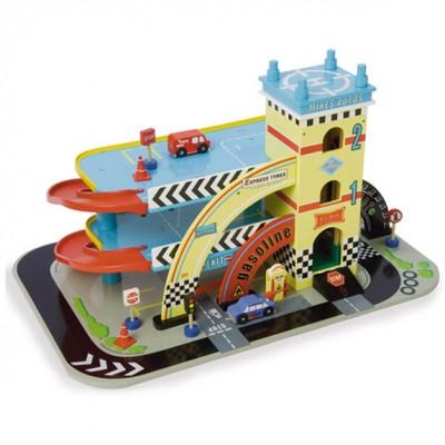 Mikes Auto Garage fra Le Toy Van er inkl. legetøjsbiler og sælges her hos Legetøj Online