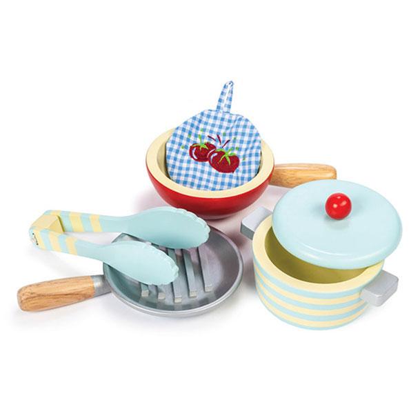 Potter og pander fra Le Toy Van til børnenes legekøkken