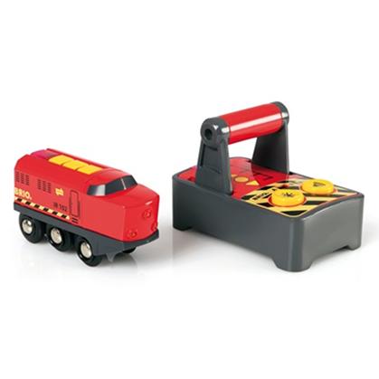 Fjernstyringen kan styre 2 tog på én gang