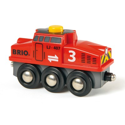 En viktig del i hvært industriområde; BRIO Rangerlokomotiv sørger før de ekstra krafter som kræves da andre lokomotiv skal rangeres.
