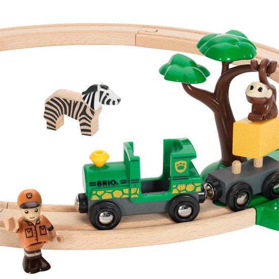 Det samlede safari togbanesæt