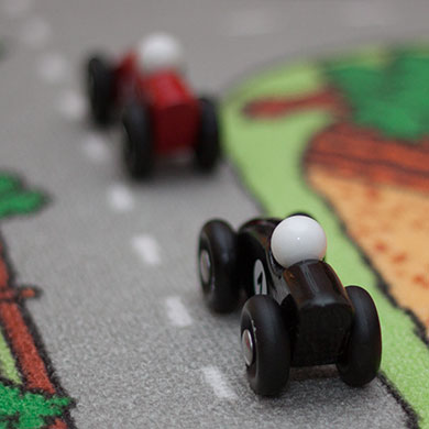 Sort Vilac legetøjsracer leveres af Legetøj Online