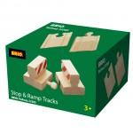 Sådan ser kassen ud med de 4 dele til skinnerne