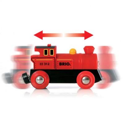 Damplokomotivet kan køre helt af sig selv, både frem og tilbage