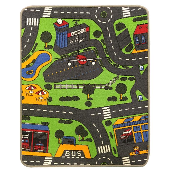 Trafiktæppe til legetøjsbiler med lufthavnsmotiv