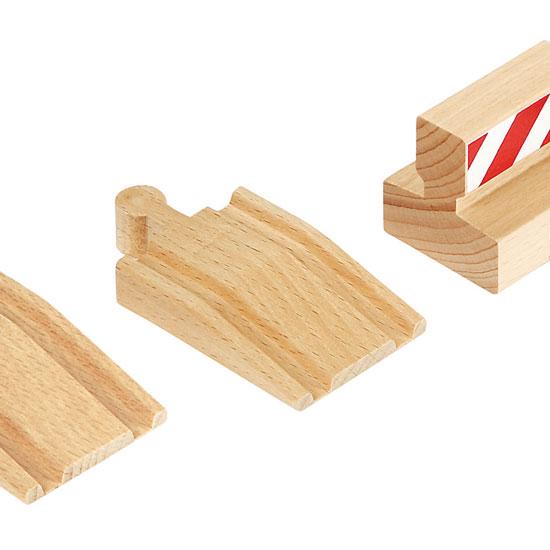 En lille udvidelse med rampe og stopklods til BRIO skinnerne