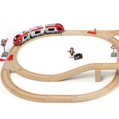 Detaljer af togbanesættets venstre side