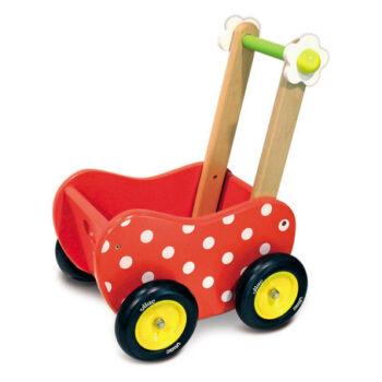 Vilacs dukkevogn bruges først til gåvogn og leveres ofte af Legetøj Online