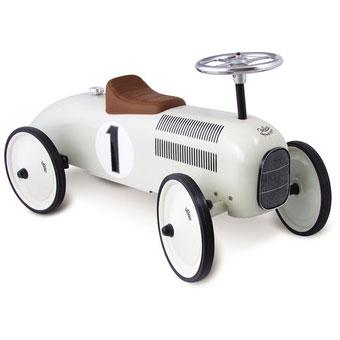 Vilac gåbil som retro model og i hvid hos Legetøj Online