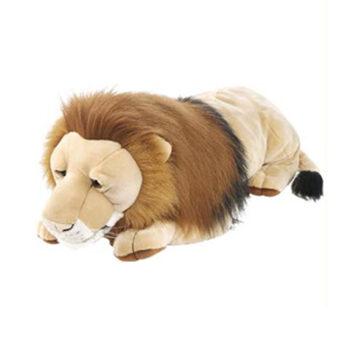 Stor løve bamse fra Wild Republic leveres her af Legetøj Online