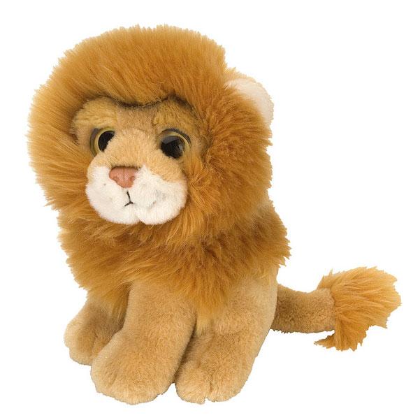 En sød løve bamse på 18 cm
